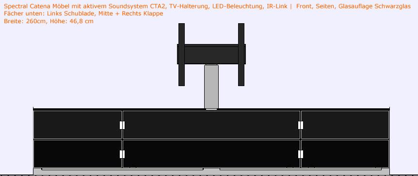 spectral catena mit cta2 tv halterung led beleuchtung. Black Bedroom Furniture Sets. Home Design Ideas