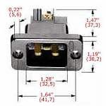 20 Amp. Hubbell Einbau-Stecker